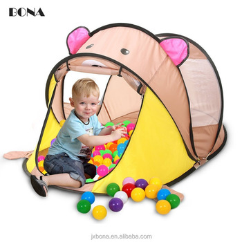 Large Baby Play Tent Foldable Cartoon Children Beach Play House - cartoon children play