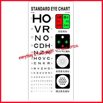 Professional Snellen Chart Eye Test Chart Vision Chart - Buy Snellen