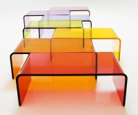 Rectangular Colored Acrylic Coffee Table,Lucite Furniture ...