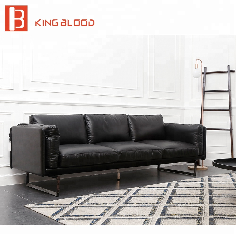 Sofa L Shape Untuk Ruang Tamu Kecil Modern Sectional Genuine Leather Corner Living Room Furniture Sofa View Leather Corner Sofa Kingblood Product Details From Foshan Kingblood