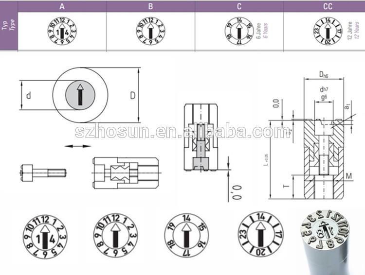 Best Selling Changeable Date Stamps Calendar Indicator Arrow Steel