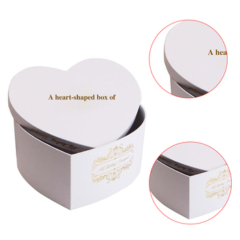 Delicate Heart Shape Paper Gift Box Template Paper Box Templates