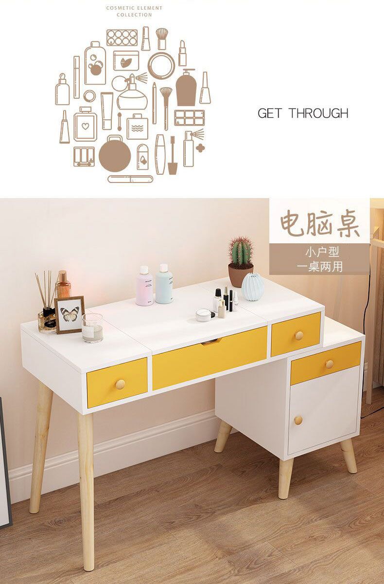 Cosmetic Table Minimalist European Dressing Table Bedroom Dresser Multifunctional Retractable Bedside Table Makeup Table With Mirror Buy Dresser Makeup