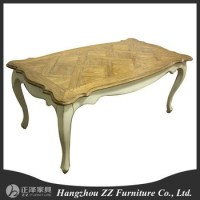 Antique Oak Wood Dining Room Table