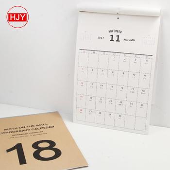 Best Quality Calendar 2018,Calendar Book,Wall Calendar Printing