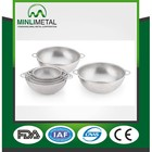 Hot sell Stainless steel Precision pierced Washing vegetable colanders &stainers with two ear 28cm