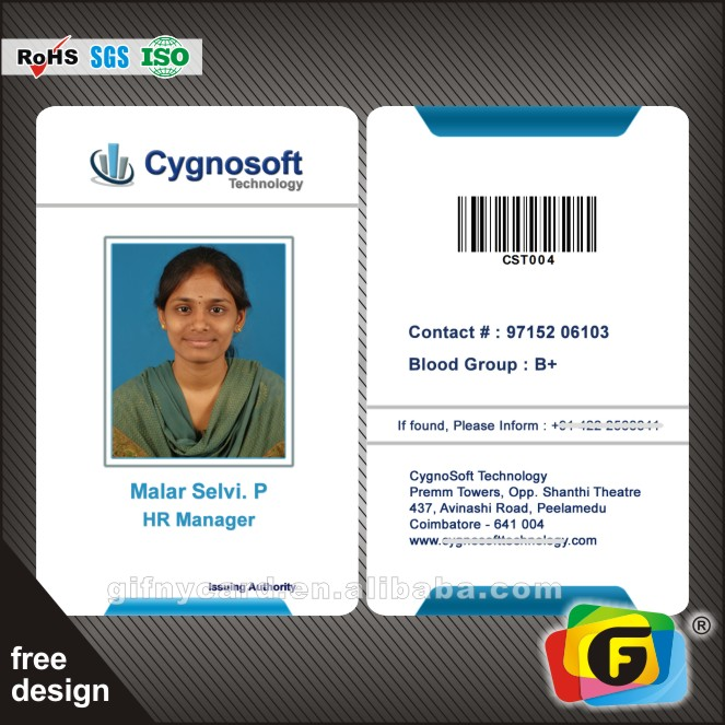 ID card double side customized CMYK business card, View ID Card