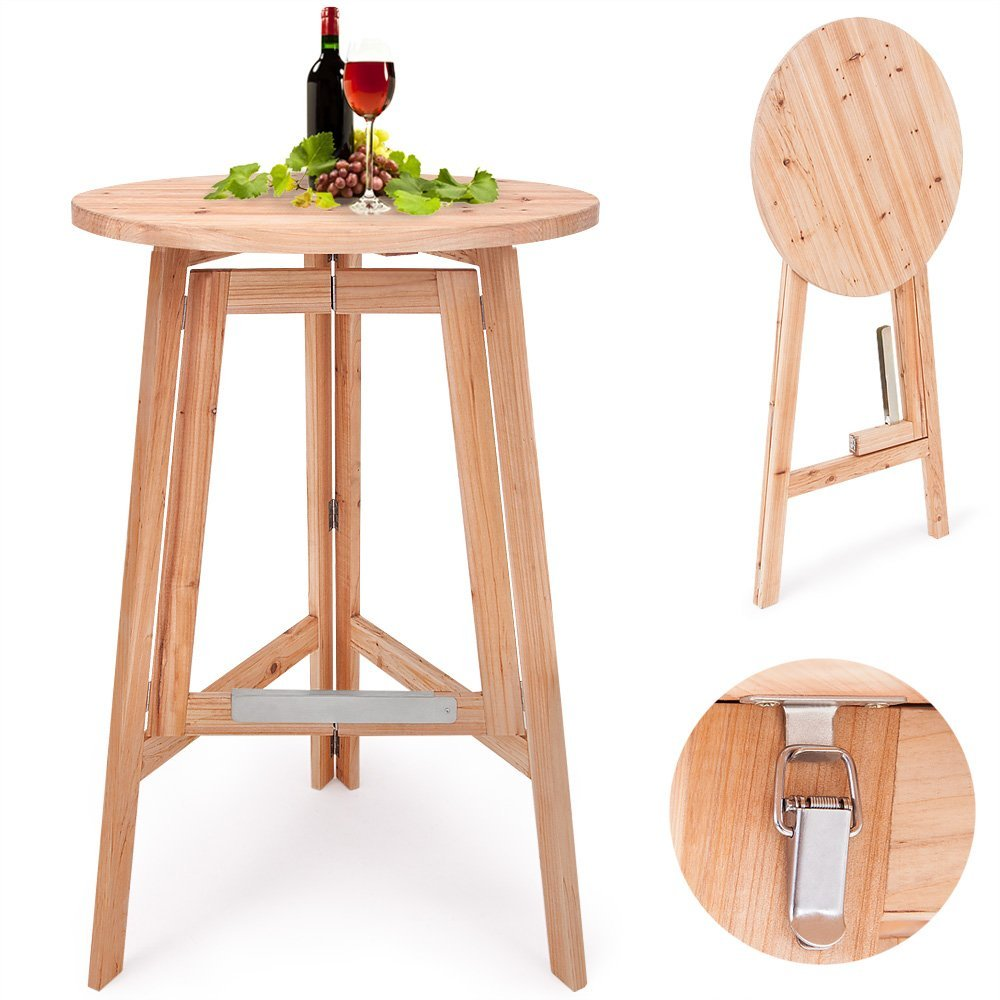 Stehtisch Selber Bauen Folding Wooden Bar Table High Seat Stool - Buy High Bar