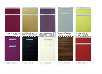 Uv High Gloss Vinyl Wrap Kitchen Cabinet Doors Buy Vinyl