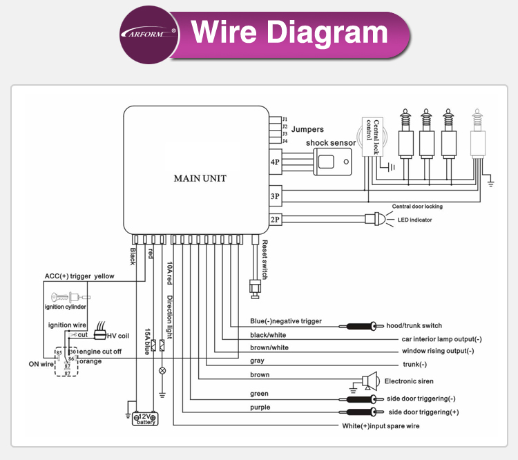 spy two way car alarm system wiring diagram