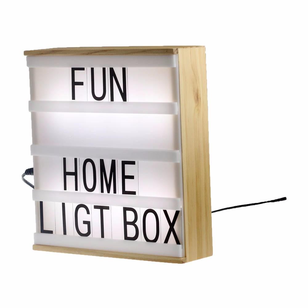 A5 Hout Filmische Lightbox Aanpasbare Licht Doos Vintage