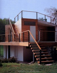 Modern Wood Stairs,Railing Outdoor Stairs Wooden,Wood ...