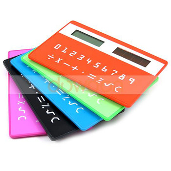 86mm Long 5 Color In Stock Super Thin Slim Solar Card Calculator