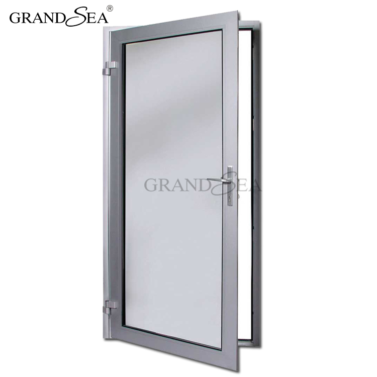 Aluminium Vessels Hsn Code Hinged Aluminum Glass Exterior Front Swing Flush Door With