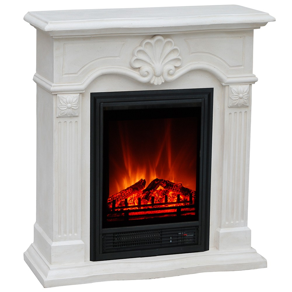 Elektrische Sfeerkachel Lion Head Polyfiber Polystone Fireplace And Mantel Package Compact