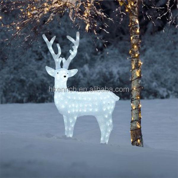 Christmas 120cm Led Light Up Acrylic Reindeer Outdoor Decoration - light up christmas decorations