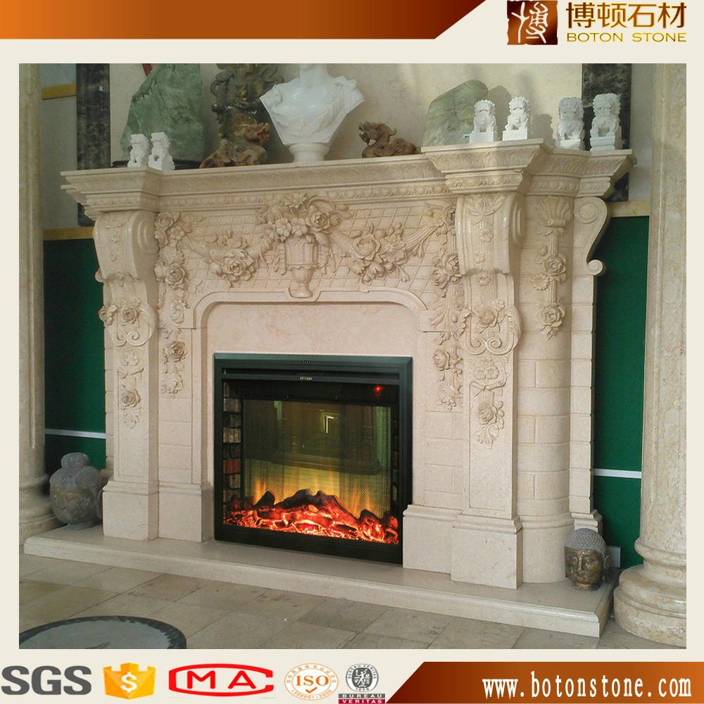 Natural Marble Chimney Piecegranite Mantel Shelves On