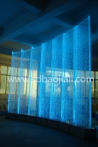 Led Digital Water Curtain Waterfall Water Feature Fountain ...