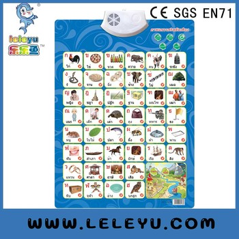 Thai Alphabet Sound Wall Chart New Manufacturer Educational Toy For