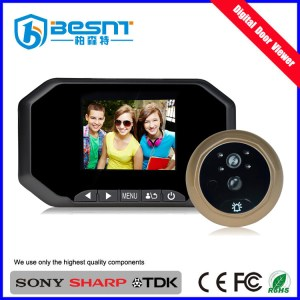 Wholesale price 3.0inch Color Screen PIR motion detection photo shooting smart digital door Viewer two way audio BS-MK05A