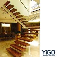Popular Villa Wrought Iron Stair / Steel Wood Stairs ...