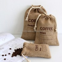 Custom Recyclable Small Drawstring Burlap Coffee Bags From ...