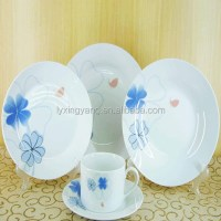 Blue Stripes Dinnerware Set Dining Plates Dishes Bowls ...