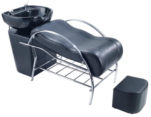 Backwash Unit Barber Wash Chair Ceramic Sink Brown L6008