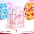 2017 new style fairy 3d pop up wedding invitation card happy birthday cards