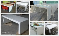 Acrylic Solid Surface Long Narrow Counter Height Bar Table ...