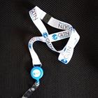 15mm lanyard accessories custom retractable ID badge reels with epoxy LOGO