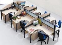 Office Workstation Layout Staff Office Work Desk Computer ...