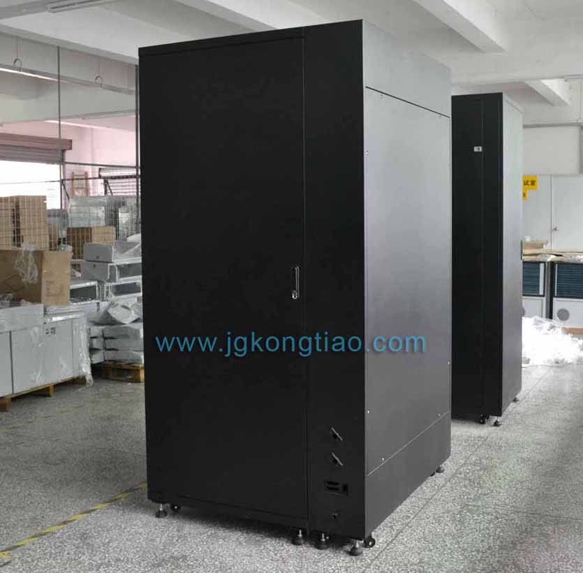 Integrated Server Rack With Side Mounted Air Conditioning