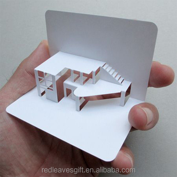 House Shaped Business Cards With Cmyk Printing - Buy House Shaped