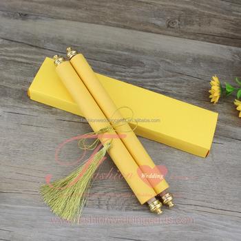 Royal Golden Scroll Wedding Invitations Card - Buy Scroll Wedding