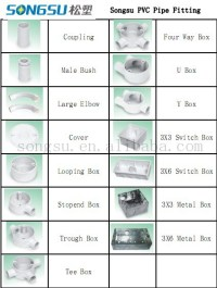Good Quality Pvc Pipe And Accessories Fittings For Wiring
