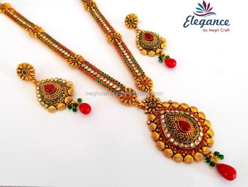 One Gram Gold Plated Long Bridal Jewellery South Indian