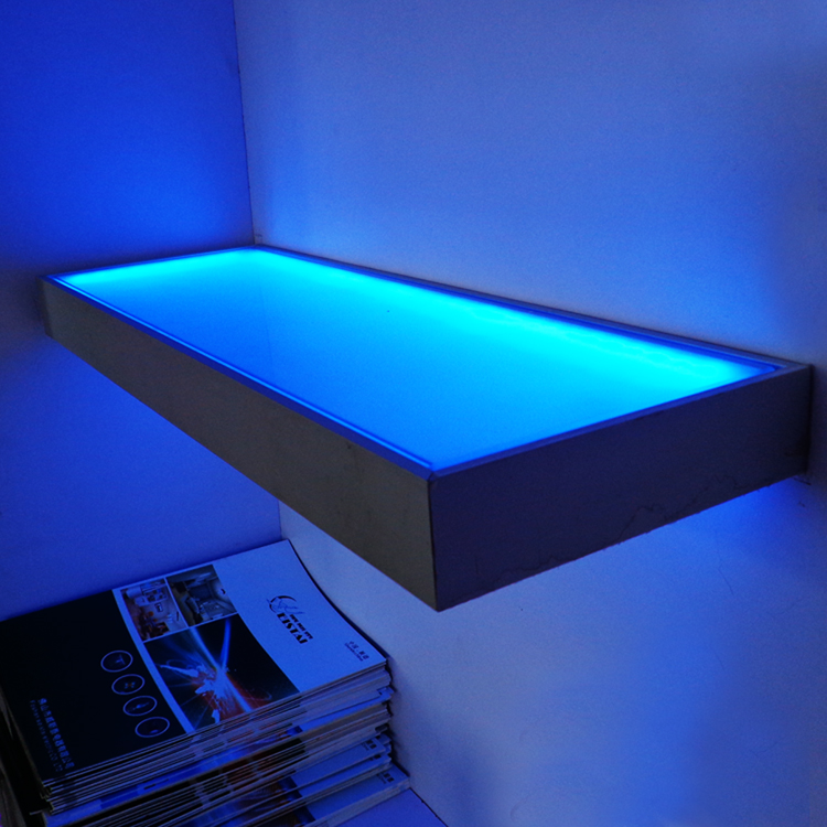 Glas Tische 12v Glass Shelf Wall Mounted Display Led Light Cupbroad