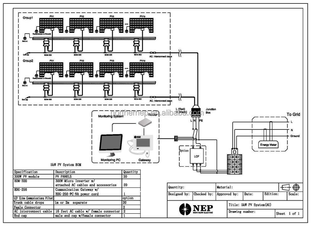 micro inverter wiring diagram schematic
