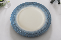 13 Inch China Elegant Lace Ceramic Wedding Charger Plate ...