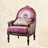 Tyx1353-beautiful Royal Princess Leisure Chair Fabric ...