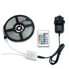 24Key IR Remote +2A UK Plug Power Supply 16.4ft 5M Waterproof 2835 RGB 270 Led Strip Light