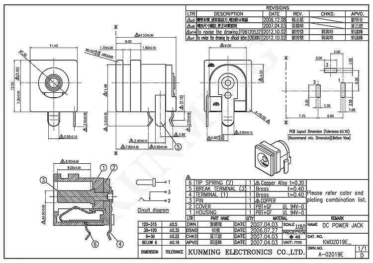dc barrel jack connector