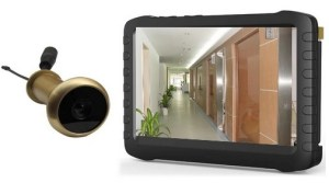 Wireless motion detect digital front door peephole viewer camera with LCD screen monitor real time display