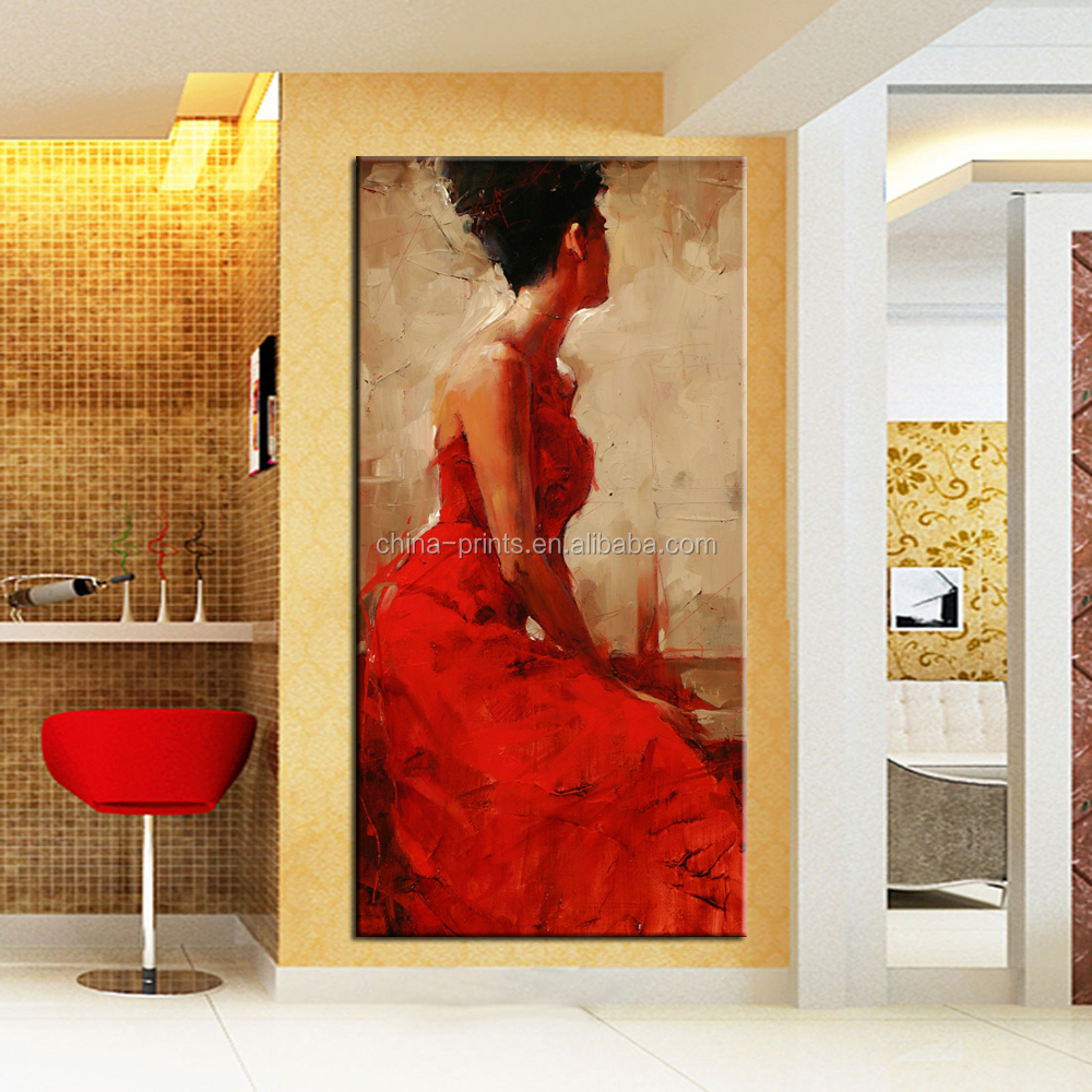 Living Room Paintings Elegant Women Painting Art Red Dress Women Wall Decoration Wholesale Living Room Paintings Buy Elegant Women Painting Art Red Dress Women Wall