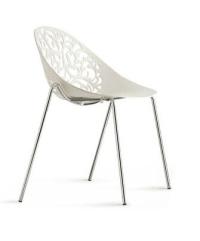 Modern Cheap Fancy Plastic Chair Chromed Metal Chairs ...
