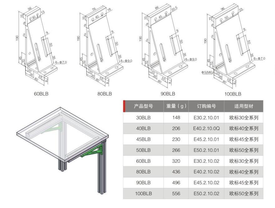 Aluminum Profile Accessories 45 90 135 Degree T Slot Aluminum Corner Gusset Buy Aluminum