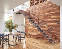 Modern Design Single Beam Staircase With Solid Wood Stair ...