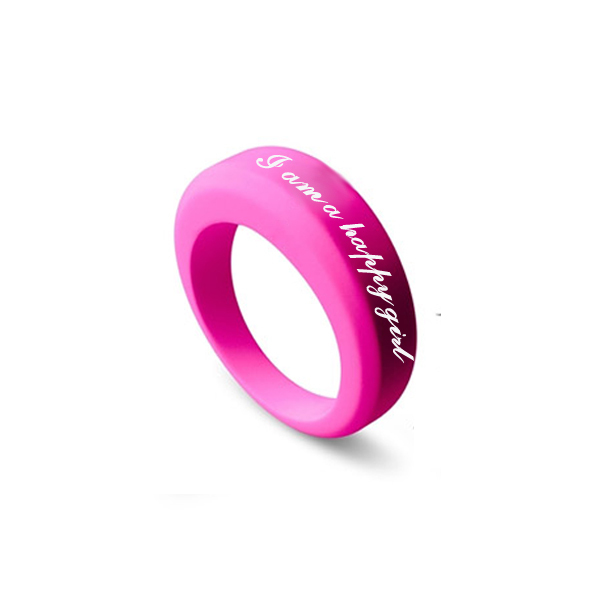 Custom Design Silicone Wedding Band Ring,Silicone Ring