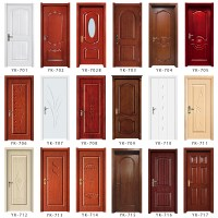 Yk824 Interior Home Entry Wood Door Front Modern Teak Wood